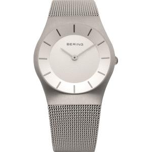 Reloj mujer CLASSIC de plata y malla milanesa