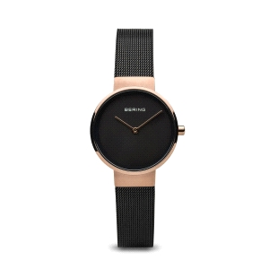 Reloj mujer Classic negro y oro rosa