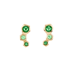 Pendientes NO HONEY dorado con cristal Swarovski