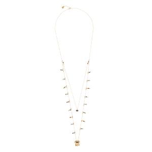 Collar largo dorado OSIRIS con cristal Swarovski