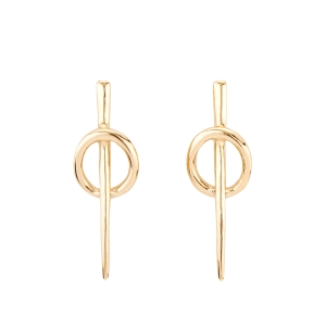 Pendientes dorado BACKSTITCH modernos