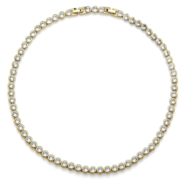 Collar Tennis cristal Swarovski dorado