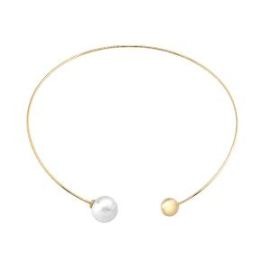 Collar plata dorada ATARAXIA con perla