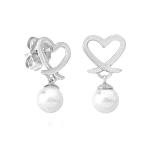 Pendientes plata con perla Monica Cruz