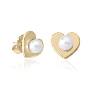 Pendientes Corazon perla Monica Cruz