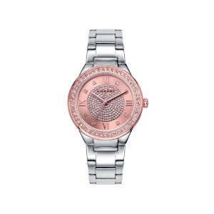 Reloj mujer CHIC con esfera rosa y correa de acero