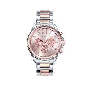 Reloj mujer CHIC rosa y bicolor multifunción