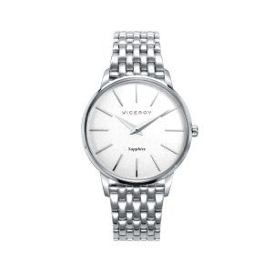 Reloj unisex DRESS con esfera blanca y cristal zafiro