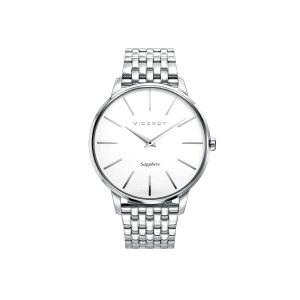 Reloj hombre DRESS con esfera blanca y cristal zafiro