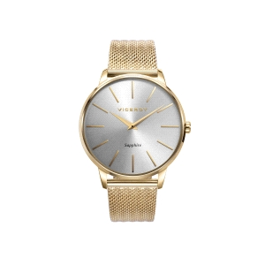Reloj hombre DRESS dorado con cristal zafiro