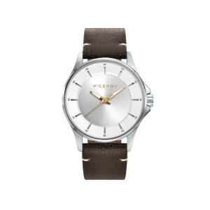 Reloj hombre BEAT con correa piel marrón