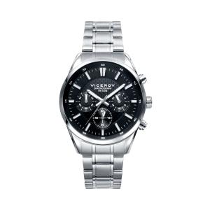 Reloj hombre cronógrafo con esfera negra-401017-57