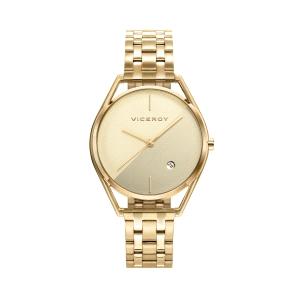 Reloj mujer AIR dorado con correa de acero-42394-97