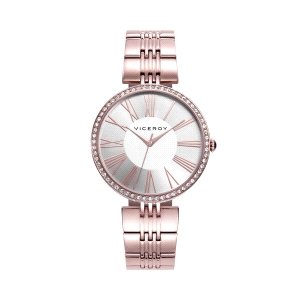 Reloj mujer CHIC rosa con bisel de circonitas