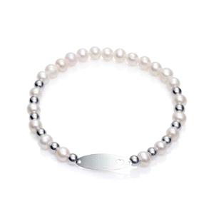 Pulsera de plata con perlas aguadulce