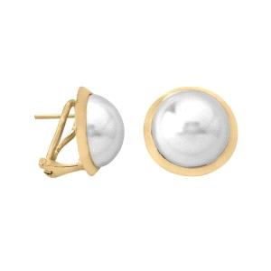 Pendientes Lyra con media perla 14mm