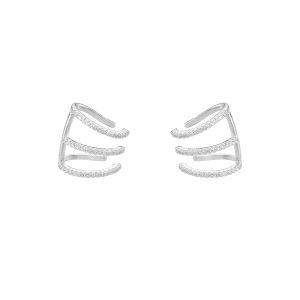 Ear cuffs de plata con circonitas Volumen Collection