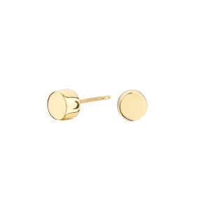 Pendientes de plata CUBE CIRCULO con baño de oro