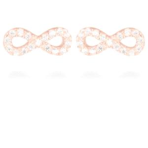 Pendientes Infinito de plata y oro rosa