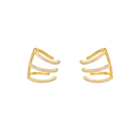 EARCUFFS PLATA DORADO VOLUMEN COLLECTION