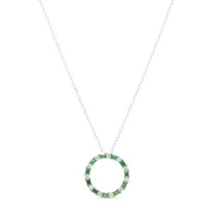 Collar Cuthjack en plata y circonita esmeralda