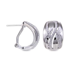 Pendientes de plata con circonitas NAHANI