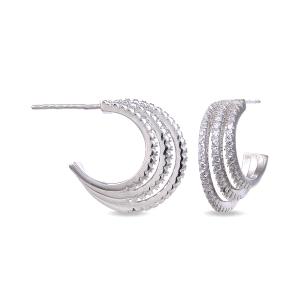 Pendientes aros de plata con circonitas SATH