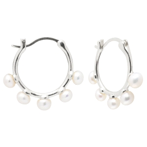 Pendientes Aros FAMI de plata con perlas