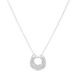 Collar Donsa en plata con Circonita brillante