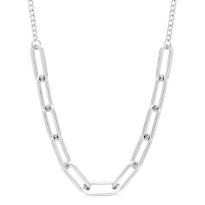 Collar Mondtri de metal plateado