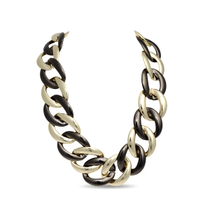 Collar Nederre de eslabones metal bicolor