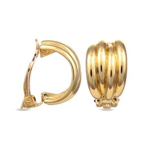 Pendientes Orth de metal dorado cierre clip