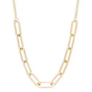 Collar Mondtri de eslabones de metal dorado
