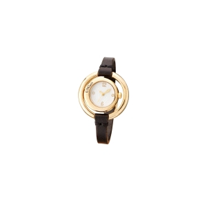 Reloj Time After Time chapado en oro y cuero