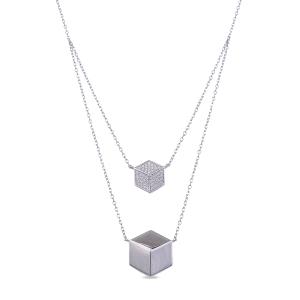 Collar Nespos de plata con circonitas brillante