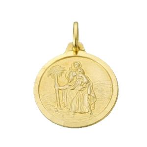 Medalla San Cristobal Oro 18KT 18MM