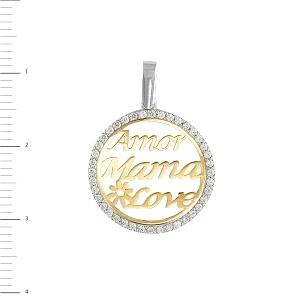 Medalla de la madre bicolor Oro 18KT
