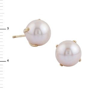Pendientes de perla en Oro 18KT con garras