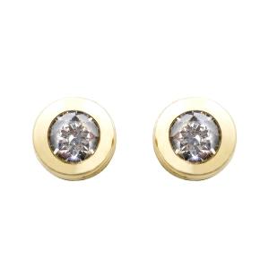 Pendientes Oro 18kt con circonita en chaton 4mm