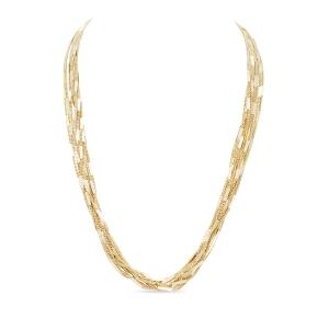 Collar Senkh largo con baño de oro