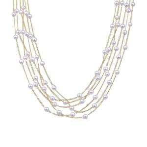 Collar ARTAW de baño de oro con perlas
