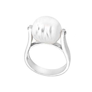 Anillo Agora de plata con perla barroca 12mm
