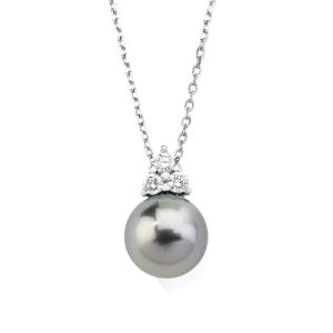 Colgante Ceres con perla gris y circonitas
