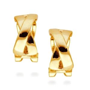 Pendientes Reina de acero con baño de oro