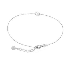 Pulsera CIES de plata con perla