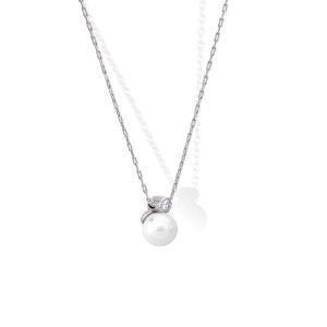 Gargantilla CIES de plata con perla y circonita