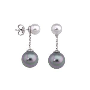 Pendientes Ilusion con perlas bicolor