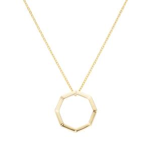 Gargantilla de plata Screw octogonal con baño de oro