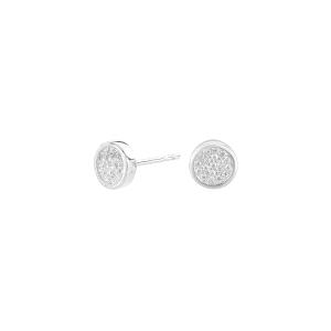 Pendientes de plata Pavé con circonitas