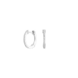 Pendientes criollas de plata con circonitas